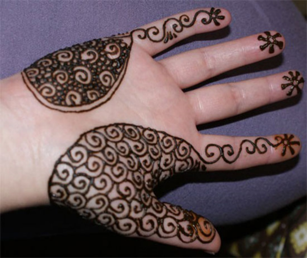 New But Simple Mehndi Design for Desi Girls