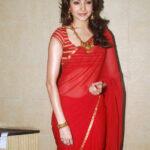 Indian Girl Anushka Sharma Red saree
