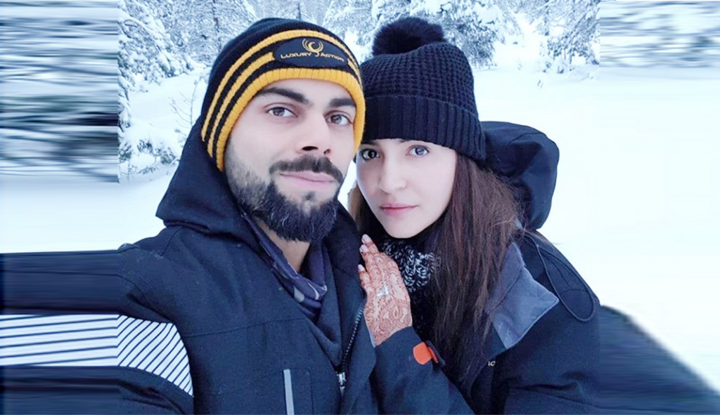 Anushka Sharma and Virat Kohli Viral honeymoon Picture in winter season