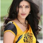 Shruti Haasan in blue Saree on Beach