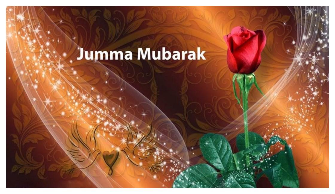 Jumma-Mubarak in Urdu English