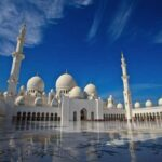 Sheikh Zayed Grand Mosque in Abu Dhabi night view