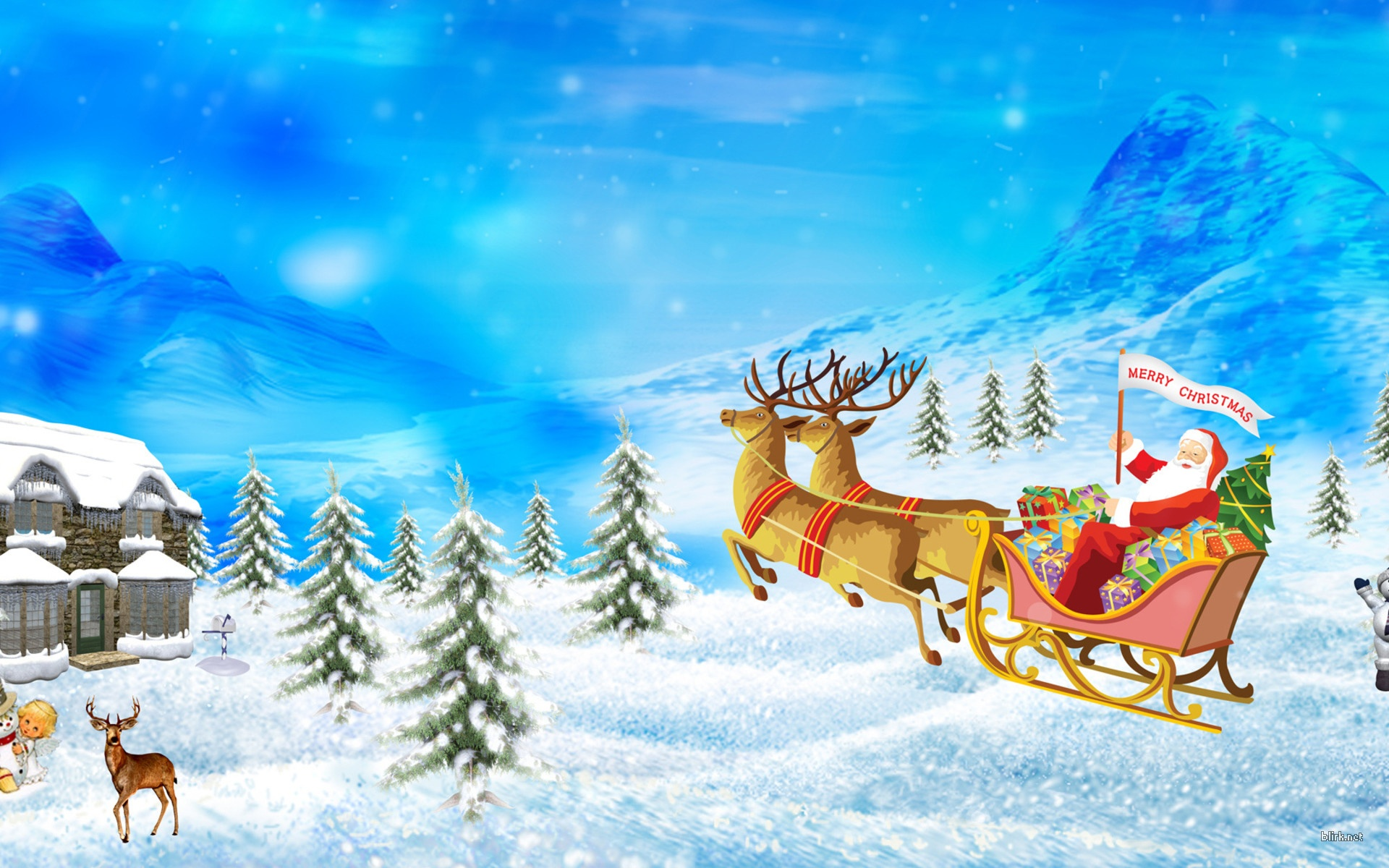 Download Merry Christmas HD Greetings Wallpapers