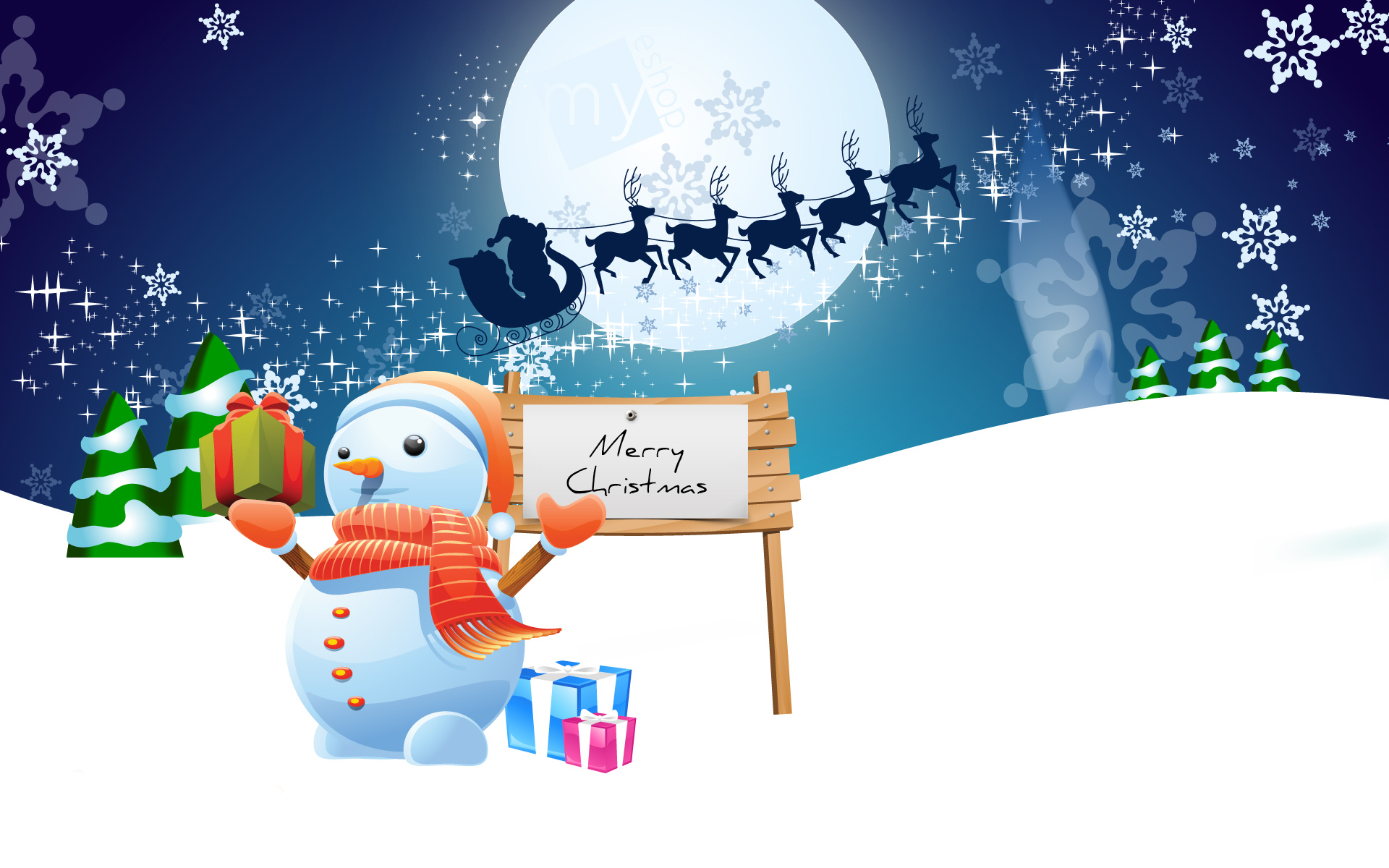 Best Happy Christmas HD Wallpapers free