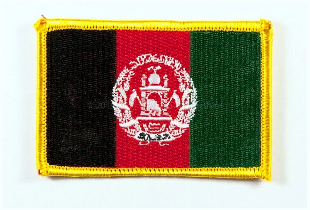 Afghanistan Flag Shape Patch Photos Image