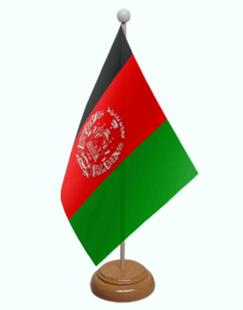 afghanistan-desk-table-flag-with-wooden-stand-and-base Photos Image