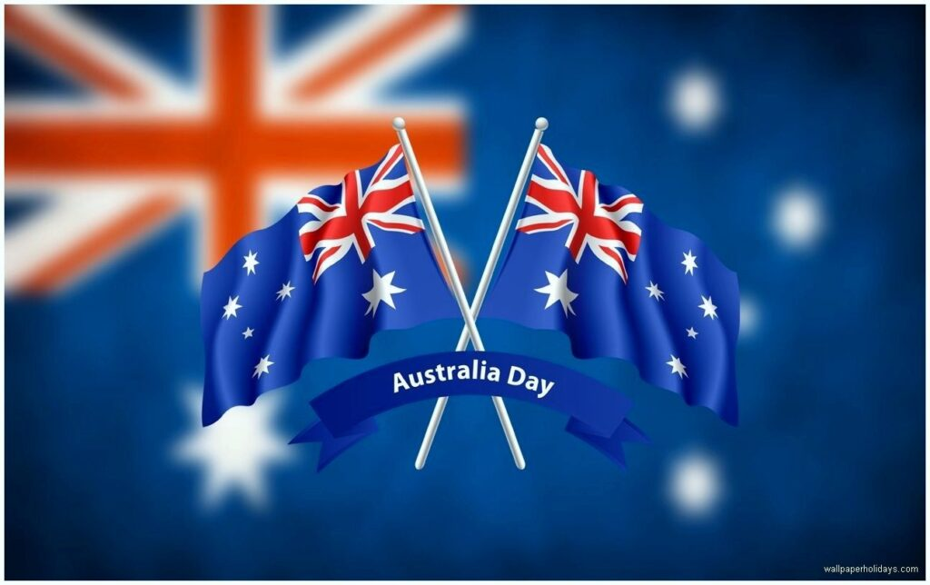 Two Australian flags Image for Independence Day