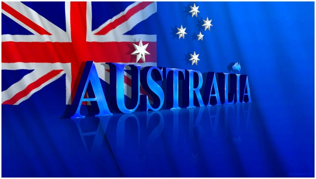 Australian flags Images on Wall flex design