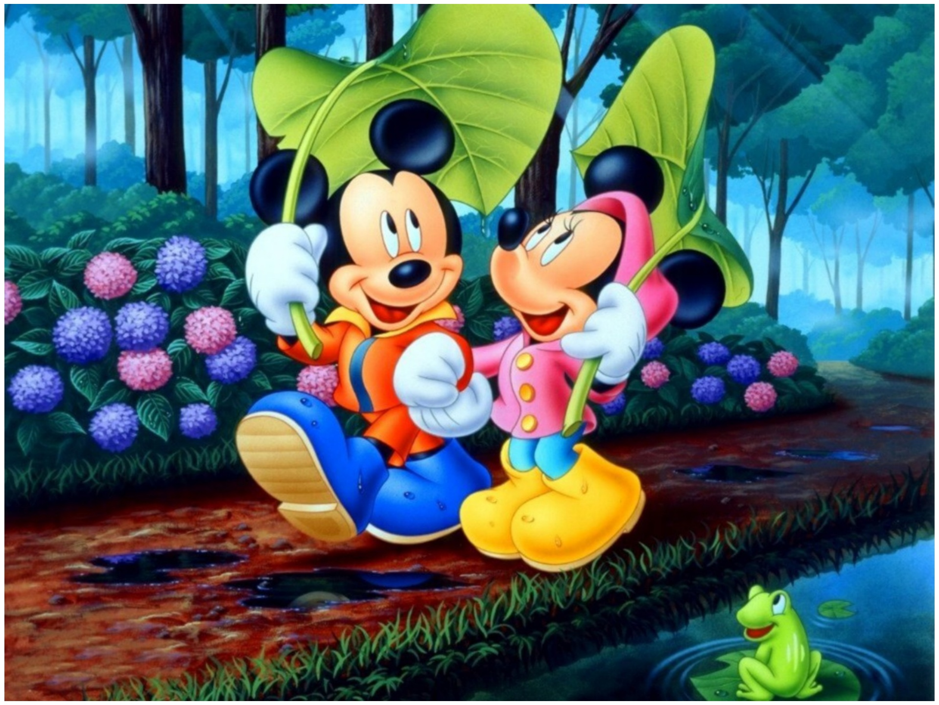 mickey and minnie mouse wallpaper for Boys