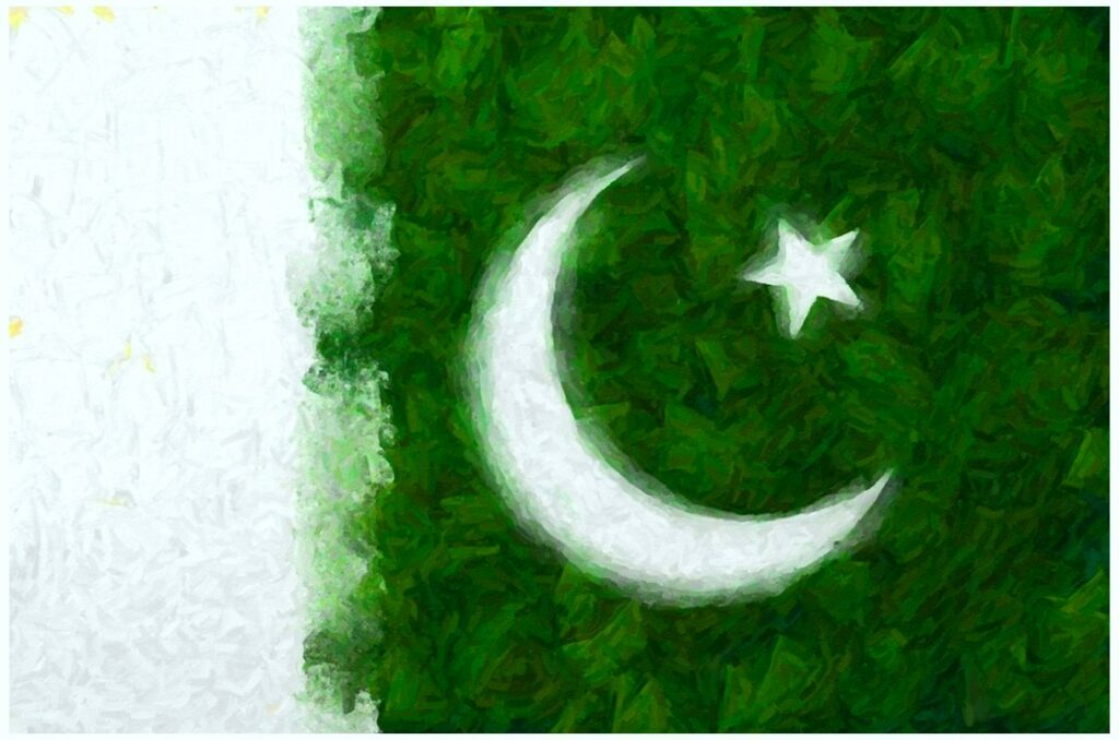Hand Made Pakistan flag HD photos