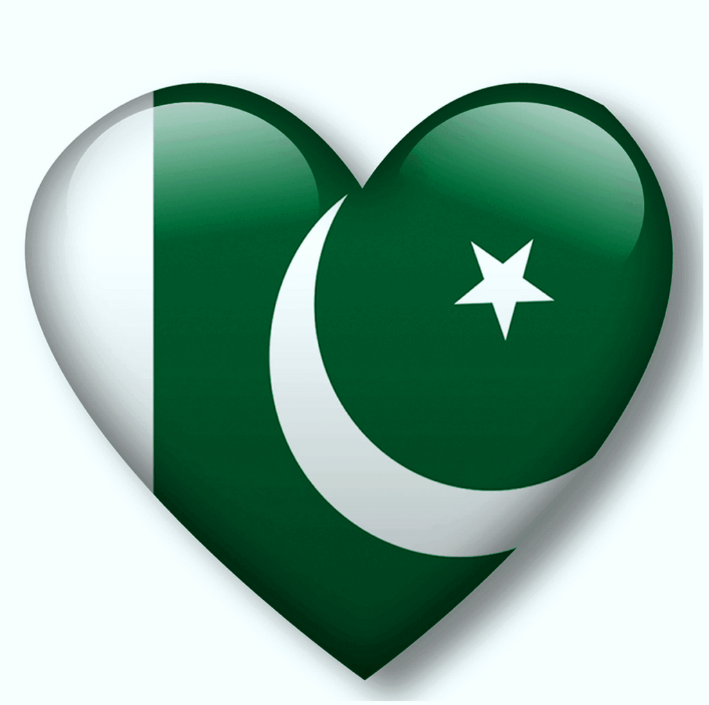 Heart Shaped Pakistan flag HD photos images pics download