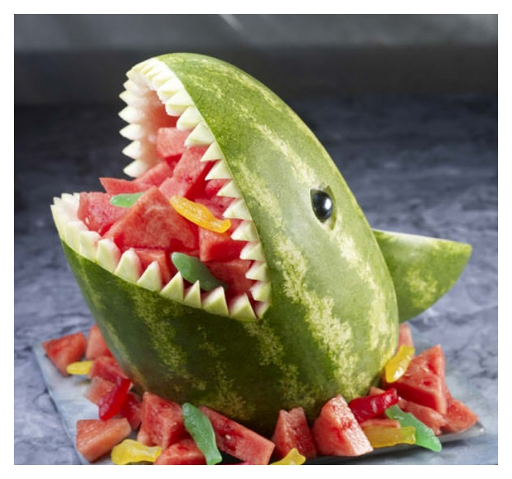 Watermelone alligator Head fruit creative arts funny images