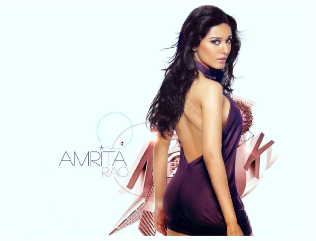 Full HD Beautiful Back Amrita Rao Wallpapers