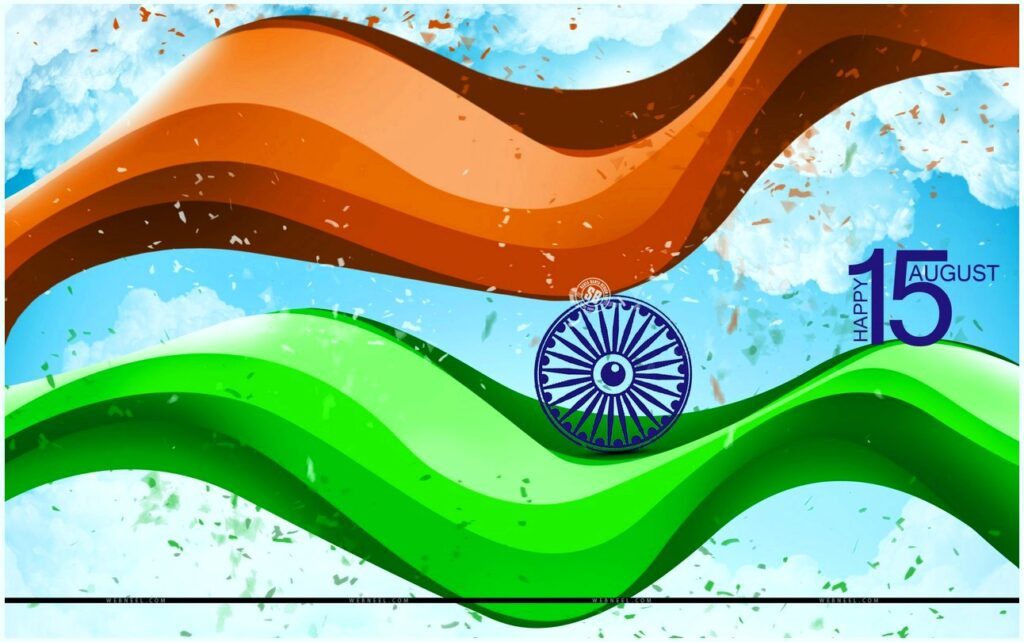 Independence Day (India) 3D FLag image