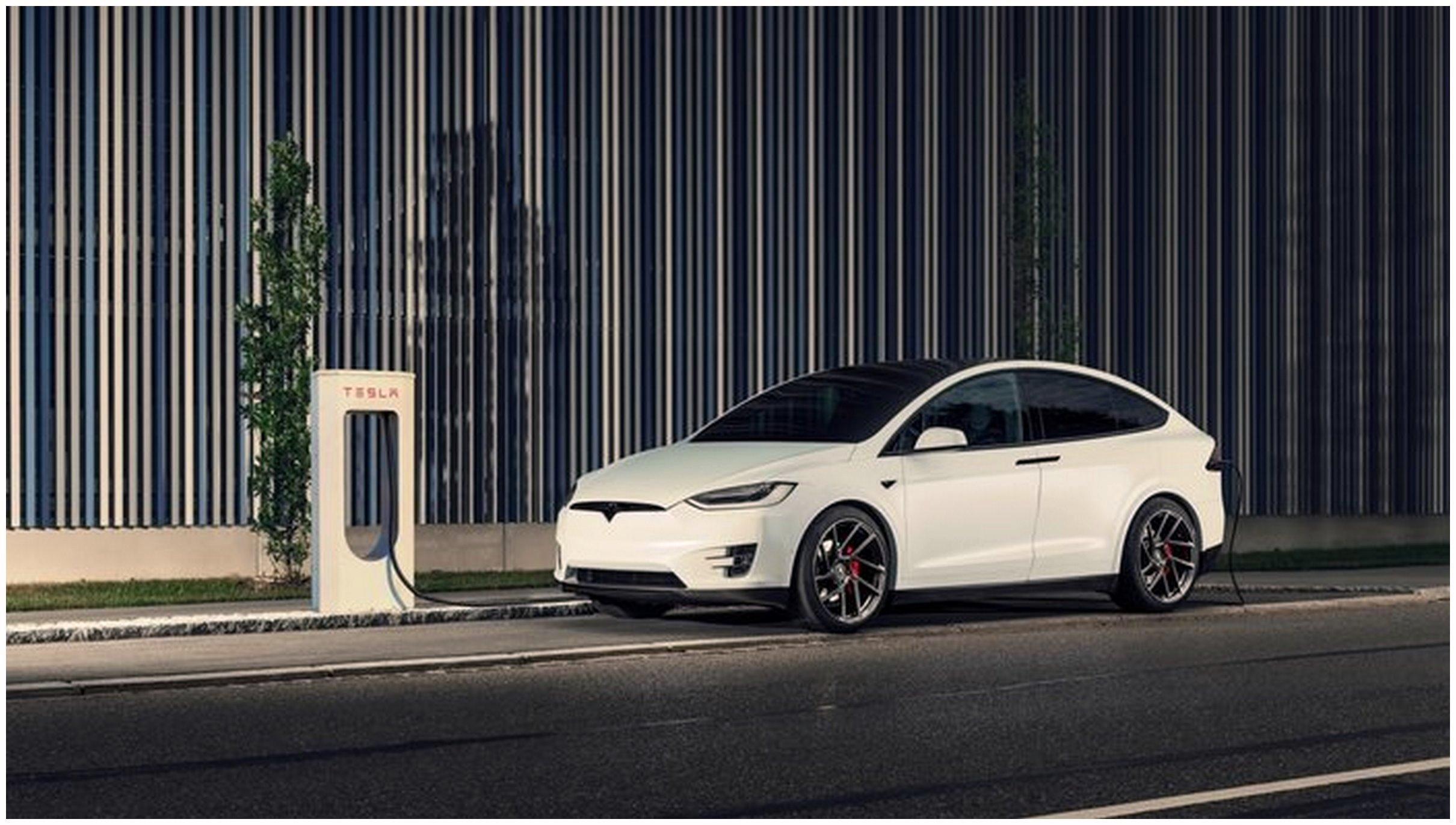 X model Tesla Wallpapers free White Car