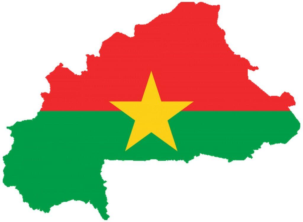burkina faso flag in Map