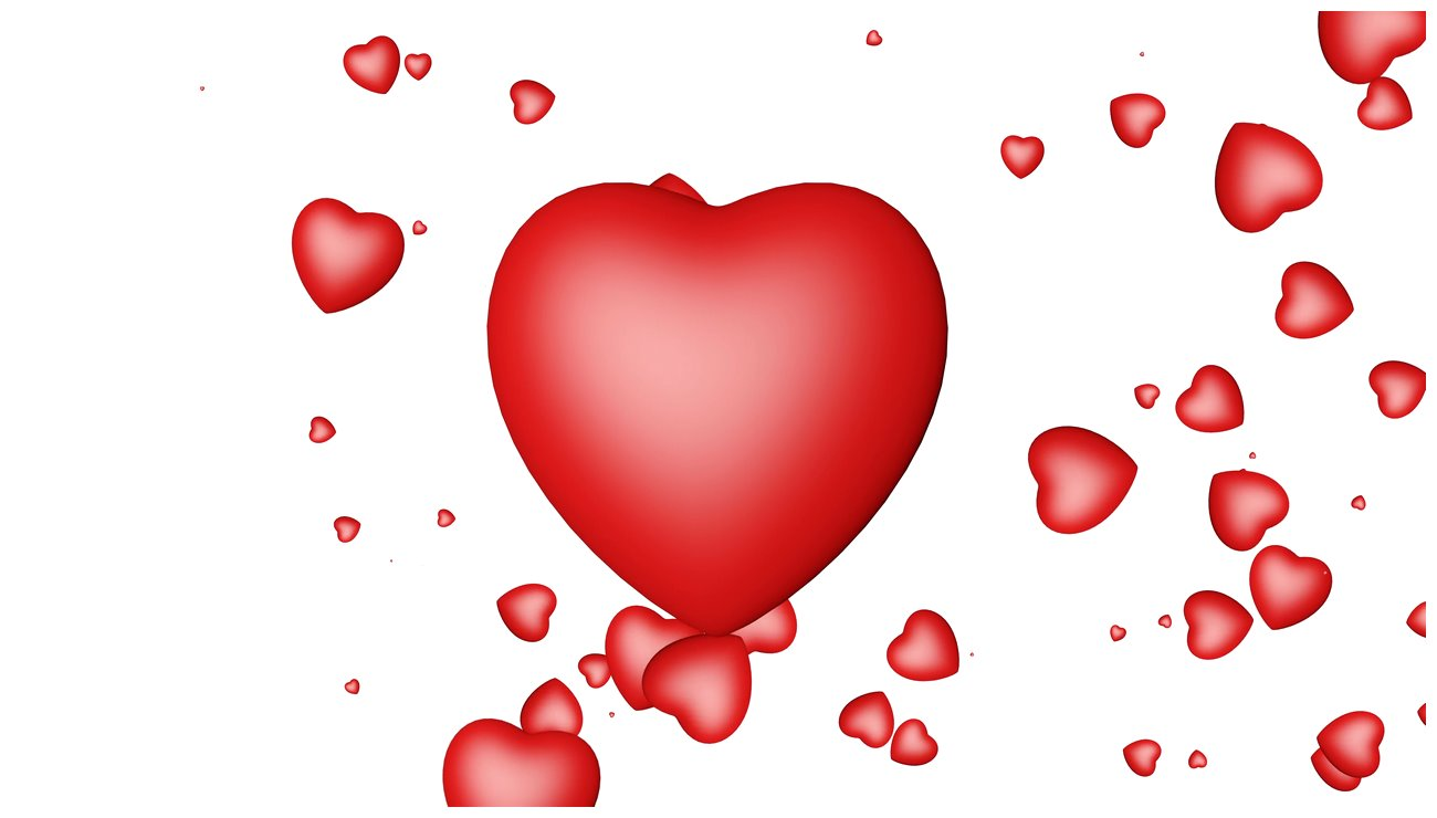 Heart shape with white background scene