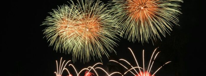 Fireworks Happy new year facebook cover photos nature