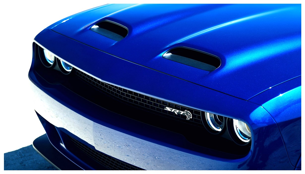 Blue Dodge Challenger SRT Hellcat Widebody Wallpaper